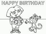 Dora the Explorer Coloring Pages: Dora: Happy Birthday
