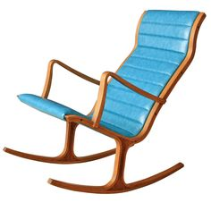 Heron Rocker by Mitsumasa Sugasawa for Tendo Mokko | From a unique collection of antique and modern rocking chairs at https://www.1stdibs.com/furniture/seating/rocking-chairs/