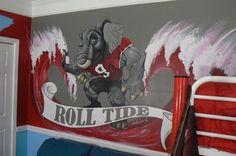 The Bama Room for the True Fan or the perfect man cave painting! Alabama Room, Alabama Decor, Sweet Home Alabama, Crimson Tide Football, Alabama Football, Alabama Crimson Tide, Football Team, Man Cave Paintings, Alabama Crafts