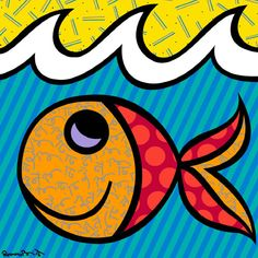 Art project based on this artist...Romero Britto from Brazil ...