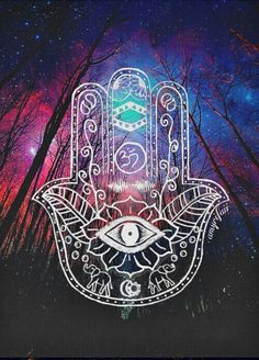 Image via We Heart It https://weheartit.com/entry/145725828 #art #background #boho #colorful #drawing #eye #flower #galaxy #gypsy #hand #hippy #hipster #indie #karma #night #photography #random #space #sun #tattoo #universe #wallpaper #goodvibes #hamsa #softgrunge