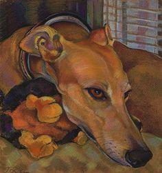 Tuffin the Greyhound by Jane Oriel Greyhound Art, Italian Greyhound, Animal Sketches, Dog Portraits, Animal Paintings, Dog Art, Unique Art, Fine Art America, Original Artwork