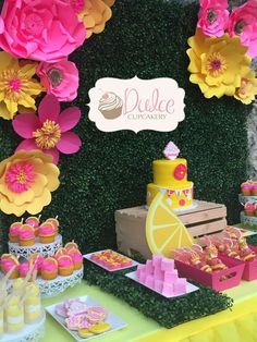 You won't believe this pink lemonade birthday party! See more party planning ideas at CatchMyParty.com!