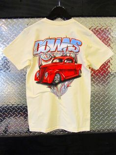 Downs Custom Performance Automotive - Men's 1937 Ford Pickup T-Shirt, Oatmeal, $24.99