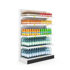 Bottle and beverage container grocery shelves for sale