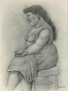 FERNANDO BOTERO (NÉ EN 1932) Femme assise, 2004 Mine de plomb sur papier, signée and datée en bas à droite 40 x 30 cm à vue - 15.75 x 11.8 in Graphite on paper, signed and dated lowe rright Fernando Botero… - Aguttes - 08/04/2018