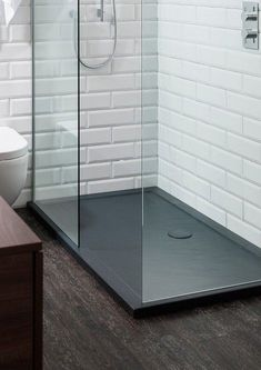 Love this shower tray Grey Slate Shower Trays in Shower Trays Loft Bathroom, Grey Bathrooms, Bathroom Layout, Bathroom Interior, Small Bathroom, Bathroom Ideas, Industrial Bathroom, Shower Ideas, Bathroom Organization
