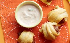 Merguez is a spicy, North African-style lamb or beef sausage—it's great wrapped in flaky croissant dough. Get two more variations on Pigs in a Blanket here.