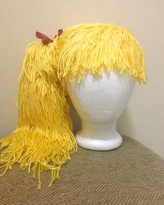 Handmade+Crochet+yarn+Hair+wigwomen+baby+kidsgolden+by+SueStitch,+$49.99