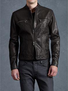 Jean Style Leather Jacket - John Varvatos                              …