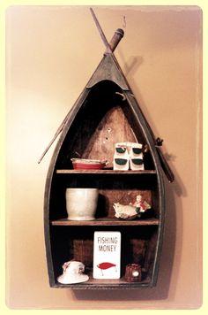 Cute boat shelf for fishing nursery
