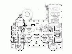 Plano de hermosa casa mediterránea con 4 dormitorios-2