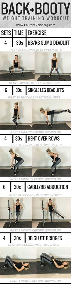 Best Workout Plans : Lauren Gleisberg Happiness Health & Fitness Page 2 Fitness Workouts, Weight Training Workouts, Sport Fitness, Butt Workout, At Home Workouts, Fitness Tips, Health Fitness, Fitness Foods, Fitness Plan