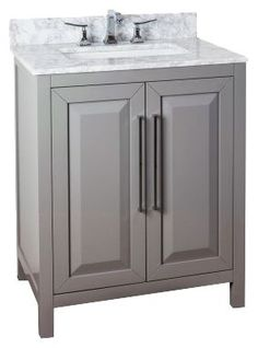 Cade Contempo 30'' vanity with grey finish and clean, leading-edge design VAN100-30-T