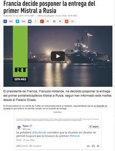 Cancelación de Mistral de Francia a Rusia
