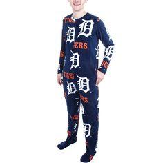 Detroit Tigers Ramble One-Piece ''Mansie'' Footie Pajama Suit - Navy Blue - $39.99