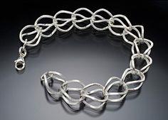 Hen Bracelet by Ken Loeber and Dona Look: Silver Bracelet available at www.artfulhome.com