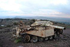 IDF Centurion wreck still standing on the Golan Heights where it was knocked out during the Yom Kippur War [imgur album] - Album on Imgur