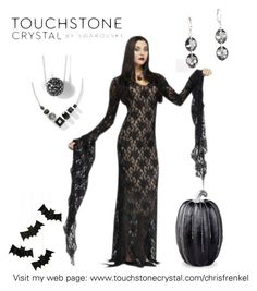 """Happy Halloween"" by christen-olnhausen-frenkel on Polyvore featuring Touchstone Crystal, Improvements and Meri Meri"