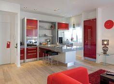 Modern Red Kitchen Home Decor