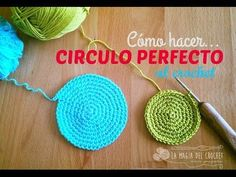 Cómo hacer un circulo perfecto al crochet/uncinetto/ganchillo/häkeln , Crochet Cross, Love Crochet, Crochet Motif, Diy Crochet, Crochet Stitches, Crochet Baby, Crochet Patterns, Cotton Cord, Tapestry Crochet