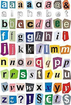 Printable alphabet cut outs alphabet magazine cutouts stock alphabet letters to cut out alphabet cut out of paper small letters stock image spiritdancerdesigns Images