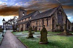 whalley lancashire, 13th century church..