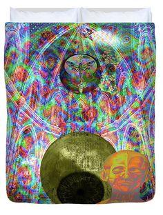 http://mosletstudio.tumblr.com/ Paris 2015 Summit Duvet Cover featuring the digital art Solar Plexus Spirit by Joseph Mosley