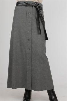 Long Skirts, A Line Skirts, Skirt Pants, Dress Skirt, Skirt Fashion, Hijab Fashion, Model Rok, A Line Skirt Outfits, Chalkboards