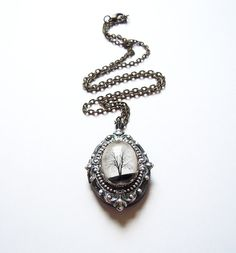 **Serenity, Small Wearable Art Locket - I Love lockets, they can be so unique and personal. And this one has a ring to match!