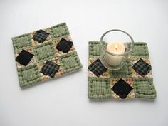 Hey, I found this really awesome Etsy listing at http://www.etsy.com/listing/126728805/quilted-mug-mats-fabric-coasters-quilted