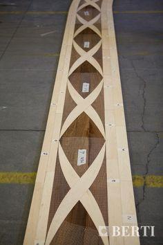 Berti border inlaid in wood for ship