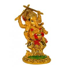 Name : Lord Ganesha with Claves Price : Rs 499 Buy Now at : http://www.indikala.com/new-additions/lord-ganesha-with-claves.html #Antiques #Idols #Figurines #Decor