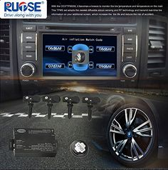 Amazon.com: Rupse TPMS Tire Pressure Monitor System with 4 Sensors Displayed on Your DVD Monitor: Automotive