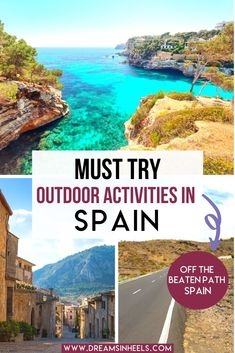 Looking for outdoor activities in Spain? Want to see Spain off the beaten path? Here is a guide, including the best outdoorsy things to do in Spain. | Spain Travel | Spain outdoor activities | outdoor Spain | Spain outdoor living | Spain Aesthetics | Spain Travel Photography | Spain Photography | Spain off the beaten path | Off the beaten track Spain | Spain travel places to visit | Spain travel aesthetic | Spain bucket list | Europe Travel | Europe Aesthetic | Europe Travel Aesthetic… Hiking Europe, Europe Travel Tips, Travel Advice, Travel Guides, European Road Trip, European Travel, Spain Road Trip, Barcelona Spain Travel, Oregon