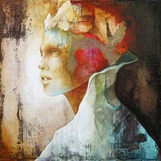 Modern abstract portraits of woman by Pascale Pratte  LOVE his work !!!!