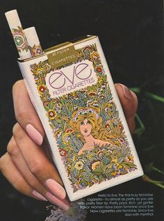 what a pretty label! Imagine the cigarette with lipstick stains on it.