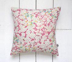 On Sale Dusky Pink Vintage Kimono Silk Fabric Cushion by LynnWatt