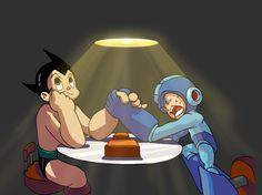 Astro Boy vs Megaman