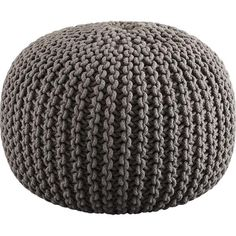 $79.95. knitted pouf from cb2. in gray!