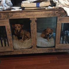 Porte double Caisse de chien Caisse de chien fabriquée à la   Etsy