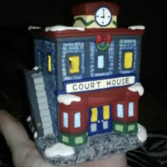 Just finish my newest house for my Christmas village....Christmas Court House by Lauren Brady