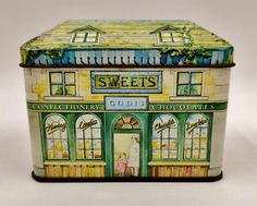Tin House, Box Houses, Tea Caddy, Vintage Tins, Metal Tins, Confectionery, Good Company, Vintage Advertisements, Logan