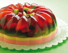 Gelatina mixta con frutas