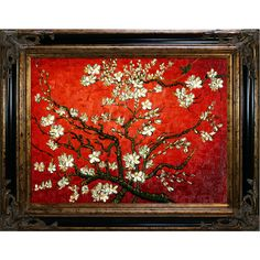 Shop for Vincent Van Gogh 'Branches of an Almond Tree in Blossom' Hand Painted Framed Canvas Art. Get free delivery On EVERYTHING* Overstock - Your Online Art Gallery Store! Hand Painted Canvas, Canvas Frame, Oil On Canvas, Canvas Art, Artist Canvas, Hand Painting Art, Painting Frames, Van Gogh Pictures, Original Artwork