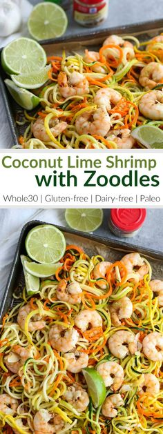 Sheet pan dinners are a great way to get dinner on the table quickly and with minimal clean-up! Shrimp and veggie 'noodles' are combined with creamy coconut milk and @mccormickspice ginger, garlic and pepper (both red and black for a little kick) then baked on a rimmed baking sheet for 10-15 minutes.  #mccormickspice #sponsored #ad