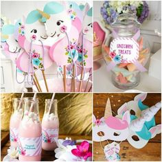 Style Report: kids party ideas. Unicorn Party. Free Printables.