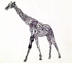 Giraffe Tattoo Images & Designs