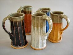 Cousins in Clay: June 2010 Mugs by Val Cushing.