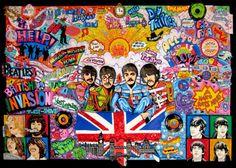 """""""The Beatles: British Invasion"""" by Charles Fazzino"""
